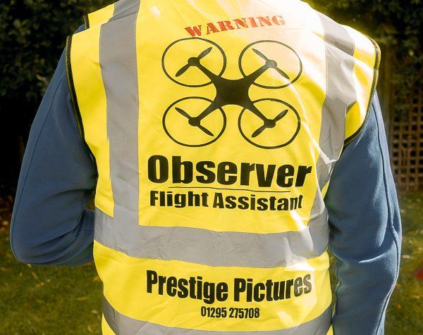 Drone filming flight