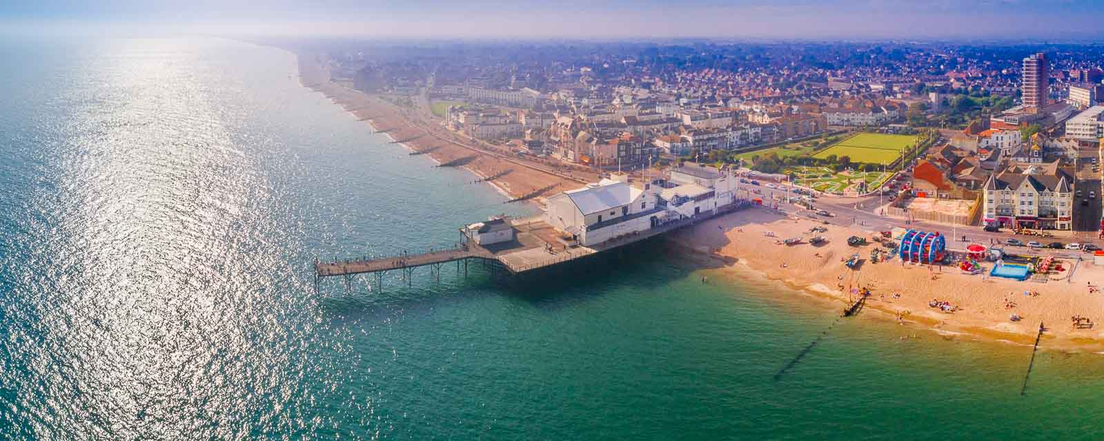 Panoramic photo of the pier in Bognor Regis, West Sussex ©Prestige Pictures