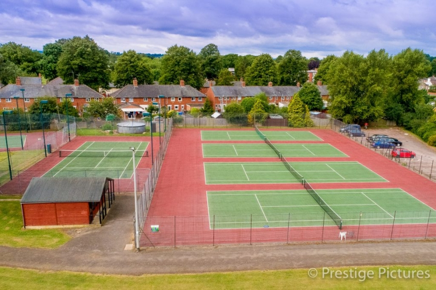 tennis courts, sports, sport, aerial