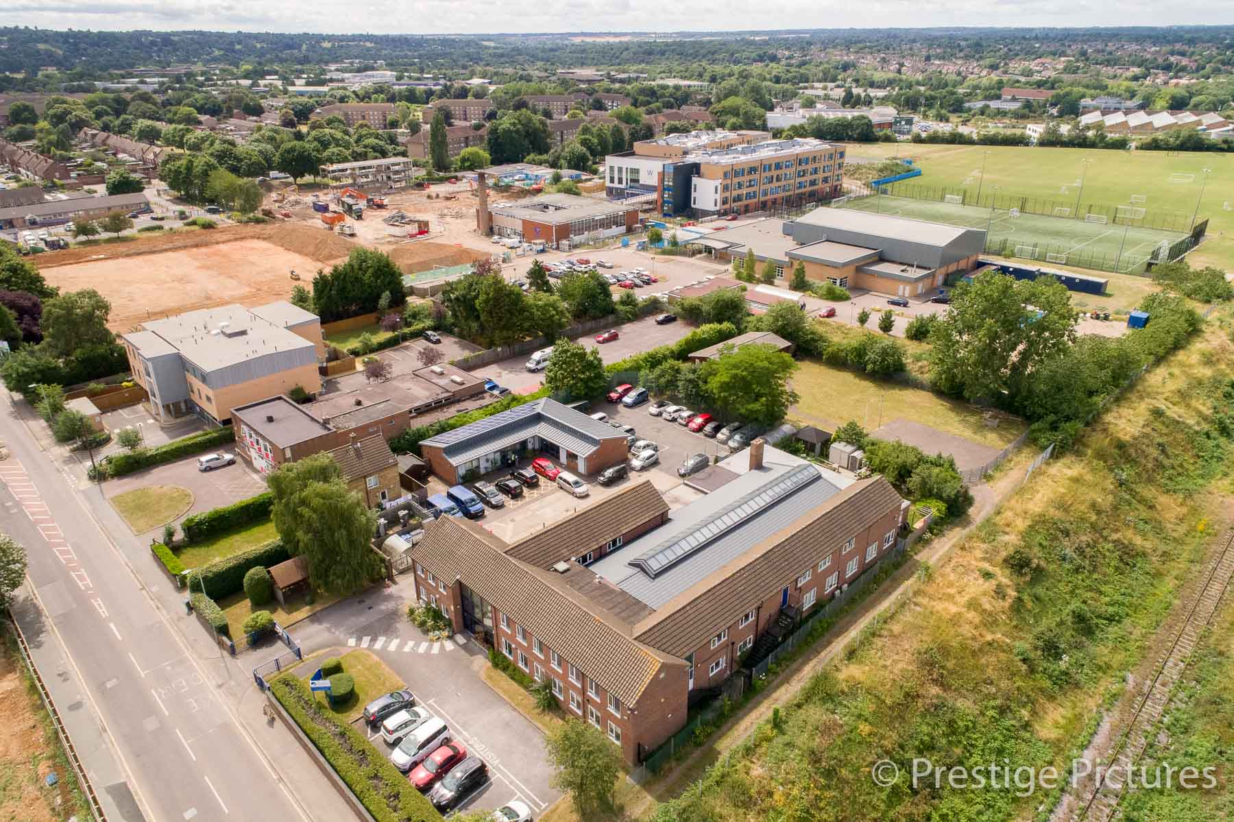 Aerial photo of an Industrial Estate in Watford